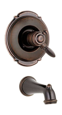 Delta - Delta T17155-RB Victorian Monitor 17 Series Tub Trim Only (Venetian Bronze) - Featuring an old-fashioned appeal and smooth, enduring curles, the Victorian series gives your bath a sophisticated style that is unique.