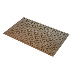 Bungalow Flooring - 24 in. L x 36 in. W Medium Brown Waterguard Ellipse Mat - Made to order. Ellipse design traps dirt, resists fading, rot and mildew. Indoor and outdoor use. 24 in. L x 36 in. W x 0.5 in. H