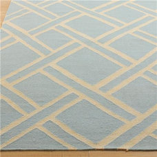 Chippendale Trellis Dhurrie: 4 Colors - Shades of Light