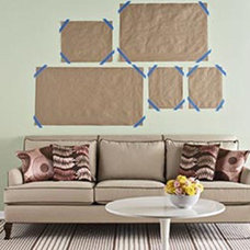 DIY's with Frames, Mirrors and Wall Hangings / Cut scrap paper to the size of th