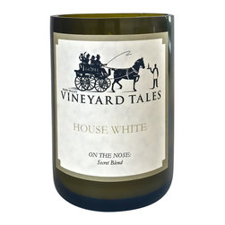 Vineyard Tales - House White Wine Candle - Napa Valley's Wine Candle Factory - Our House White candle has been delicately and arduously crafted with the best possible components, to smell, of a white wine blend! Lean on our House White candle to come home, kick back, and relax. It's so good we keep the blend a secret. Feel confident that our House White will complement your home.
