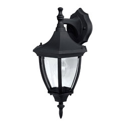 Capital Lighting - Capital Lighting 9810 Traditional Outdoor Wall Sconce X-KB0189 - This Capital Lighting 9810 Traditional Outdoor Wall Sconce is a piece with simple beauty and understated elegance. It has a beautiful frame in a rich, black finish and panels of clear beveled glass. You can't go wrong when decorating any outdoor space, such as your front port or garden, with this magnificent light fixture.