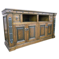 Durango Entertainment Center - Entertainment center shown has honey stain with black glaze.  Can be customized to your liking!