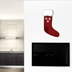 Christmas Stocking Vinyl Wall Decal ChristmasStockingUScolor010; 42 in. - Vinyl Wall Decals are an awesome way to bring a room to life!