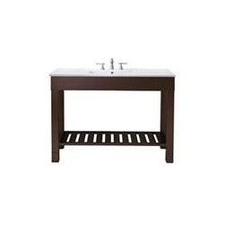 Avanity Loft 48 In. Vanity - The Loft Collection is a sleek clean design that offers extra counter space in a dark walnut finish over birch solid wood and veneers.