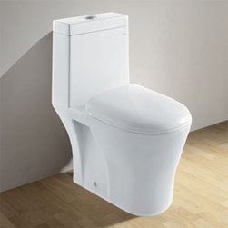 Ariel CO1034 Toilet - The Ariel CO1034 Toilet is a dual flush toilet your family will appreciate. Elongated in shape, this sturdy bathroom appliance is constructed in one-piece of durable ceramic. Featuring a non-slamming seat upgrade that is ideal for a worry-free environment during nighttime use. Its smooth, all-white finish is resistant to stains and microbes, which will please the household cleaning guru! Perfect for those who want to save water, this toilet uses a low amount of water consumption of 1.6 GPF. Its fully glazed inner trapway utilizes a smoother flush. The floor-mount installation comes with a 12-inch, 1 fit, rough-in technology. UPC-approved, this toilet is sure to maintain a good standing with your family and guests.About Ariel BathFor a quarter of a century, Ariel has been aspiring to help breathe new life into your mind and body. They design unique and luxurious bath fixtures, vanities, and steam shower systems that rejuvenate your home bath. Ariel is luxury redefined.