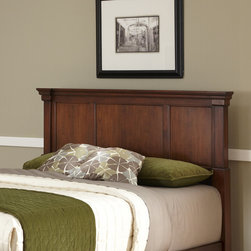 None - The Aspen Rustic Cherry Collection King/California King Headboard - Create ambiance with a perfect balance of warmth and style with The Aspen Collection king/california king headboard by Home Styles. Mahogany solids and cherry veneers are warmed with a rustic cherry finish.
