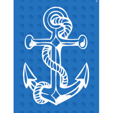Rubber Bath Mat, Anchor - To prevent bathroom slips, this natural rubber bath mat will keep you anchored.