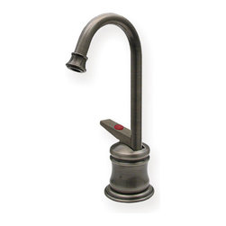Whitehaus Collection - Pewter Whitehaus WHFH3-H65 Brass Kitchen Instant Hot Water Deck Mount Dispenser - Style mixture of antique and modern designed lines brings refreshing touch to any kitchen decor. This bras kitchen instant hot water deck mount dispenser by Whitehaus adds sophisticated and traditional style to your kitchen. Whenever you need hot water this dispenser will provides hot nearly as boiled water to make it easy for you making tea, washing baby bottles. It is easy to use and it saves your time.