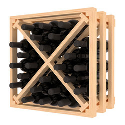 Wine Racks America - Lattice Stacking X Wine Cube in Ponderosa Pine, (Unstained) - Designed to stack one on top of the other for space-saving wine storage our stacking cubes are ideal for an expanding collection. Use as a stand alone rack in your kitchen or living space or pair with the 16-Bottle Cubicle Wine Rack and/or the Stemware Rack Cube for flexible storage.
