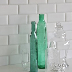 Pillowed bricks - Pillowed brick shaped marble tiles add a soft sophistication to any kitchen or bath.