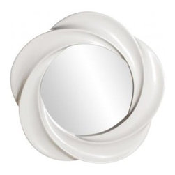 Snow Drift Mirror - Equal parts feminine and modern, this big mirror (over 3 feet in diameter!) would be gorgeous in the bedroom, or as a replacement for a bland vanity in the bath.