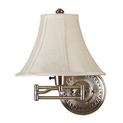 Kenroy - Kenroy-21395BRBR-Amherst Swing Arm Wall Lamp - The town of Amherst, home to scholars and poets, inspires this diverse collection of lamps. Small details in the base and Seeded columns give elegance and style to this family which included upscaled task lighting.