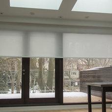 Modern Roller Shades by RoseSun Motorized Window Treatments