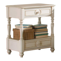 Riverside Furniture - Riverside Furniture Placid Cove 2 Drawer Nightstand in Honeysuckle White - Riverside Furniture - Nightstands - 16769 - Riverside's products are designed and constructed for use in the home and are generally not intended for rental commercial institutional or other applications not considered to be household usage.