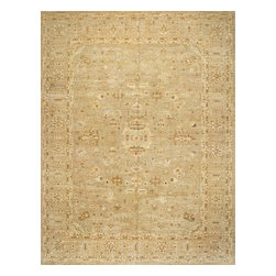 Rugsville - Rugsville Peshawar 5th Avenue Beige Beige Wool 10.1x13.4 Rug PW3176-1013 - The 5th Avenue Peshawar collection is Hand Knotted in India. Each rugs quality is woven with hand-spun wool and vegetable dyed. These rugs, which can take up to a year to weave, are then washed and dried in the sun giving each authentic rug its soft subdued tones and muted colors.
