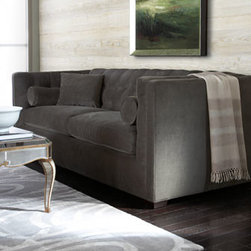 Horchow - Dusk Tufted Sofa - Called a shelter sofa with good reason, this piece invites settling in and staying awhile. But while it offers plenty of comfort, it does so with an urban sophistication that makes it as welcome in a loft as in a more traditional setting. Tufting on ba...