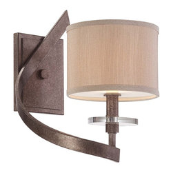 Savoy House - Luzon 1 Light Left Sconce - Inspired by classic iron chandeliers, this transitional collection puts a fresh twist on a timeless design. Luzon has a rich Antique Nickel finish, Champagne shades and gleaming K9 crystal accents.