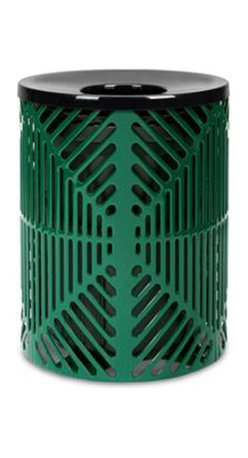 Anova Furnishings - Anova Furnishings 32 Gallon Reflections Receptacle - Web Style with Liner and Co - Shop for Outdoor Waste Bins from Hayneedle.com! The Anova Furnishings 32 Gallon Reflections Receptacle - Web Style with Liner and Contour Top will serve the cause of litter prevention with tireless devotion. With web-style steel slots and rust-resistant coating this piece lacks nothing in style or durability.About Anova FurnishingsThe history of Anova Furnishings can be traced back to 1970 when Bill Gilbert founded Clean City Squares based on a single model litter receptacle. Now the expanded Anova Furnishings offers a vast array of benches ash urns recyclers tables bike racks and other fine site furnishings. Committed not only to peak product quality but the conservation of our environment Anova Furnishings offers items constructed with recycled materials whenever possible adopts environmentally-friendly processes and works to increase the amount of products which promote recycling. Anova Furnishings is the clear choice for all of your site furniture needs and you can rest easy knowing that these products are made with the planet in mind.