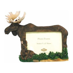 WL - 4 x 6 Inch Mother Moose and Calf Woodland Collectible Picture Frame - This gorgeous 4 x 6 Inch Mother Moose and Calf Woodland Collectible Picture Frame has the finest details and highest quality you will find anywhere! 4 x 6 Inch Mother Moose and Calf Woodland Collectible Picture Frame is truly remarkable.