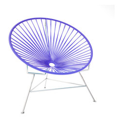 Innit Chair, Chrome Frame With Purple Weave