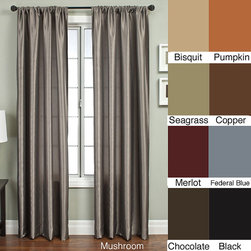 None - Covina 108-inch Rod Pocket Curtain Panel - Update your home decor with a Covina rod pocket window panelWindow treatment is a solid taffeta Window panel measures 55 inches wide x 108 inches long