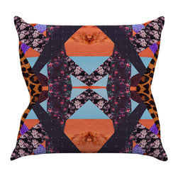 "Kess InHouse - Vasare Nar ""Pillow Kaleidoscope "" Purple Orange Throw Pillow (20"" x 20"") - Rest among the art you love. Transform your hang out room into a hip gallery, that's also comfortable. With this pillow you can create an environment that reflects your unique style. It's amazing what a throw pillow can do to complete a room. (Kess InHouse is not responsible for pillow fighting that may occur as the result of creative stimulation)."