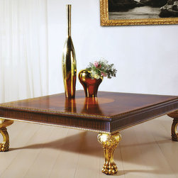 Coffee Table with Gold Leaf Accents - CAP-100 Coffee Table