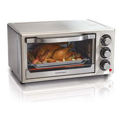 Hamilton Beach - Hamilton Beach Stainless Steel 6-slice Toaster Oven - This Hamilton Beach 31511 6-slice toaster oven features bake,broil and toast settings with a 30-minute timer to cook your food to perfection. A removable crumb tray allows simple cleanup.