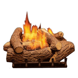 """Monessen Hearth Systems - 18"""" PH Burner Liquid Propane 28,000 Btu in Manual Control - Refractory Cement LogsExquisitely real - Mountain Cedar log sets are made from refractory cement for a level of realism you won't find anywhere else.Hand-Painted RealismTrue-to-life design - Inspired by nature, this log set is hand-painted for incredible realism and life-like detail. The volcanic rock adds even more to the authenticity of this log set.CSA Design CertifiedDesigned to accommodate your needs - These versatile log sets can be installed with or without venting, giving you more flexibility in incorporating them into your existing decor. Dual Burner SystemEnjoy dancing, realistic flames - The available PH burners produce a fine yellow flame, and the cast iron grating adds a decorative touch.Up to 36,000 BTUsStay warm and cozy - This log set delivers a range of BTUs from 28,000 to 36,000, so you'll stay nice and warm while efficiently heating the room to help lower heating costs.Includes: lava rock."""
