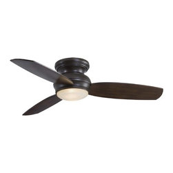 52-Inch Outdoor Hugger Ceiling Fan with Light Kit -