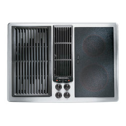 "Jenn-Air 30"" Electric Downdraft Cooktop, Stainless/blk 