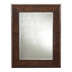 Stanley Furniture - Avalon Heights Mode Landscape Mirror - Chelsea Finish - Reflecting your good taste has never been easier. The Mode Landscape Mirror is set apart by the use of high-low cherry veneers as its frame. Not only does this create dimension for the design, but it serves as the perfect backdrop to highlight the beauty of Avalon Heights' finish, Chelsea. The mirror's rectangular shape is classic, and the rich depth that the frame offers further elevates the mirror into a modern masterpiece. Beveled glass. Made to order in America.
