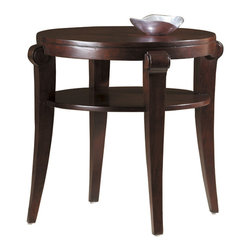 Hekman - Metropolis Round End Table - This is a beautiful piece of top-quality furniture that's perfect for your Man Cave, Game Room, Office or anywhere you would like to decorate and show your personal style.