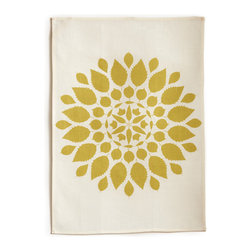 "Bambeco Brittany Linen Tea Towel in Willow - Hand-printed with water-based inks on natural linen in the USA, the Brittany Tea Towel in Willow is the perfect kitchen accomplice. The willow-colored leafy mandala brings a sense of warmth and nature into your kitchen. The 100% linen fabric is sturdy, absorbent and becomes softer with each use. Use these towels to dry the dishes, cushion a bowl, protect your hands, wrap a gift or set a table. They're a natural, reusable and responsible alternative to paper.Linen may be one of the oldest textiles in the world, dating back to approximately 8,000BC; it is the strongest of the vegetable fibers, smooth and lint free. Linen is highly absorbent and easily dyed; the color will not fade with washings. Available colors: Mineral, Willow and Copper.Dimensions: 18""W x 26""H.Note: Limited Quantities Available."