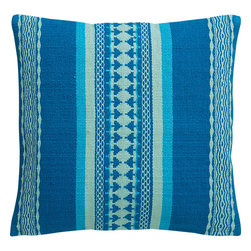 Saudades Blue 16-inch Pillow - I'd love to see this vibrant pillow in a playroom — or even better, in a beach house.