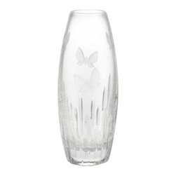 "Waterford - Waterford Butterfly Vase 11"" - Waterford Butterfly Vase 11"""