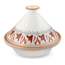 Tunisian Hand-Painted Floral Tagine - Tagines are all the rage right now. Cooking in this beautiful floral piece would take you right to Morocco.