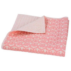 traditional baby bedding Filigree Blossom Quilted Blanket