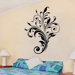StickONmania - Abstract Scroll Design Sticker - A nice vinyl sticker and wall art design for your home Decorate your home with original vinyl decals made to order in our shop located in the USA. We only use the best equipment and materials to guarantee the everlasting quality of each vinyl sticker. Our original wall art design stickers are easy to apply on most flat surfaces, including slightly textured walls, windows, mirrors, or any smooth surface. Some wall decals may come in multiple pieces due to the size of the design, different sizes of most of our vinyl stickers are available, please message us for a quote. Interior wall decor stickers come with a MATTE finish that is easier to remove from painted surfaces but Exterior stickers for cars,  bathrooms and refrigerators come with a stickier GLOSSY finish that can also be used for exterior purposes. We DO NOT recommend using glossy finish stickers on walls. All of our Vinyl wall decals are removable but not re-positionable, simply peel and stick, no glue or chemicals needed. Our decals always come with instructions and if you order from Houzz we will always add a small thank you gift.