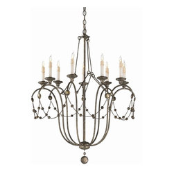Arteriors - Devon Chandelier - Nothing brings drama to an entryway or dining room like a grand chandelier. The antiqued silver-leaf finish gives this stately piece a vintage feeling, while the candle-like lights create an old-world sense of romance. Your home will truly glow under the warmth of this chandelier.