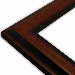 The Frame Guys - Contemporary Walnut Picture Frame-Solid Wood, 12x18 - *Contemporary Walnut Picture Frame-Solid Wood, 12x18