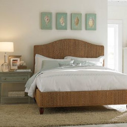 Ashby Park Queen Banana Leaf Weave Bed, American Drew -