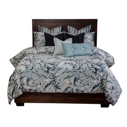 SIS Covers - SIS Covers Polynesia Duvet Set - 6 Piece California King Duvet Set - 5 Piece Twin Duvet Set Duvet 67x88, 1 Std Sham 26x20, 1 16x16 dec pillow, 1 26x14 dec pillow. 6 Piece Full Duvet Set Duvet 86x88, 2 Std Shams 26x20, 1 16x16 dec pillow, 1 26x14 dec pillow. 6 Piece Queen Duvet Set Duvet 94x98, 2 Qn Shams 30x20, 1 16x16 dec pillow, 1 26x14 dec pillow. 6 Piece California King Duvet Set Duvet 104x100, 2 King Shams 36x20, 1 16x16 dec pillow, 1 26x14 dec pillow6 Piece King Duvet Set Duvet 104x98, 2 Kg Shams 36x20, 1 16x16 dec pillow, 1 26x14 dec pillow. Fabric Content 1 100 Polyester. Guarantee Workmanship and materials for the life of the product. SIScovers cannot be responsible for normal fabric wear, sun damage, or damage caused by misuse. Care instructions Machine Wash. Features Reversible Duvet and Shams.