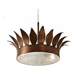 Clay Crouch Crown Ceiling Fixture - The rest of your nursery will be fit for a prince, so why shouldn't the light fixture be too? We love the whimsical lines of this fixture and that the shape and color are elegant while still being masculine.