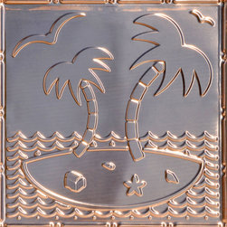 "Decorative Ceiling Tiles - Island Oasis - Copper Ceiling Tile - 24""x24"" - #2481 - Find copper, tin, aluminum and more styles of real metal ceiling tiles at affordable prices . We carry a huge selection and are always adding new style to our inventory."