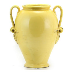 Artistica - Hand Made in Italy - SCAVO CLASSICO: Umbrella Stand Vase YELLOW - SCAVO CLASSICO: Combining simplicity and elegance for your home and Garden...