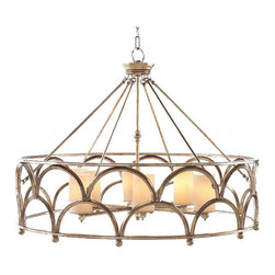 Yooker Country 6 Candles and Metal Chandelier -