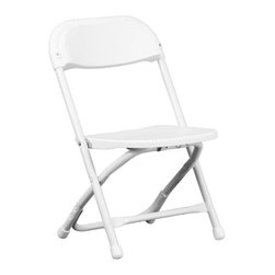 Flash Furniture - Flash Furniture Kids Plastic Folding Chair in White - Flash Furniture - Folding Chairs - YKIDWHGG - Provide kids with seating that was specifically designed for them and can be stored away when no longer in use. This plastic folding chair will make an exciting addition to any classroom daycare center or in the home. The lightweight design makes it ideal for the child to easily transport and setup for group activities reading and other learning groupings.