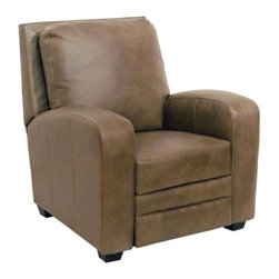 Catnapper - Catnapper Avanti Bonded Leather No Handle Reclining Chair in Mink - Catnapper - Recliners - 5518120018300018 - The Avanti Collection by Catnapper presents a great multi-position recliner upholstered in durable Valentino bonded leather-touch. Features include Elegantly Sloped Radius Arms, Relaxing Picture Frame Back and Exposed wood Legs. This Handle Free Recliner is available in chocolate and mink. With this wonderful recliner you will experience personal therapy while relaxing in comfort!